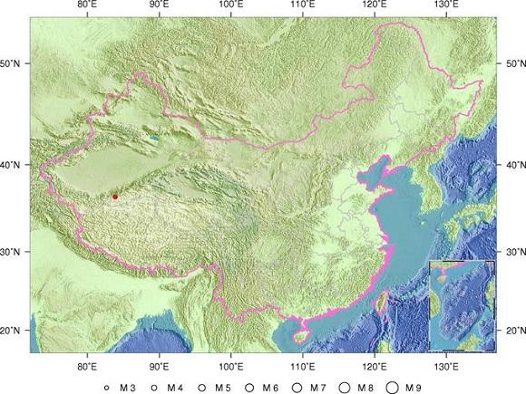 新疆和田地区民丰县发生3.3级地震 震源深度7千米