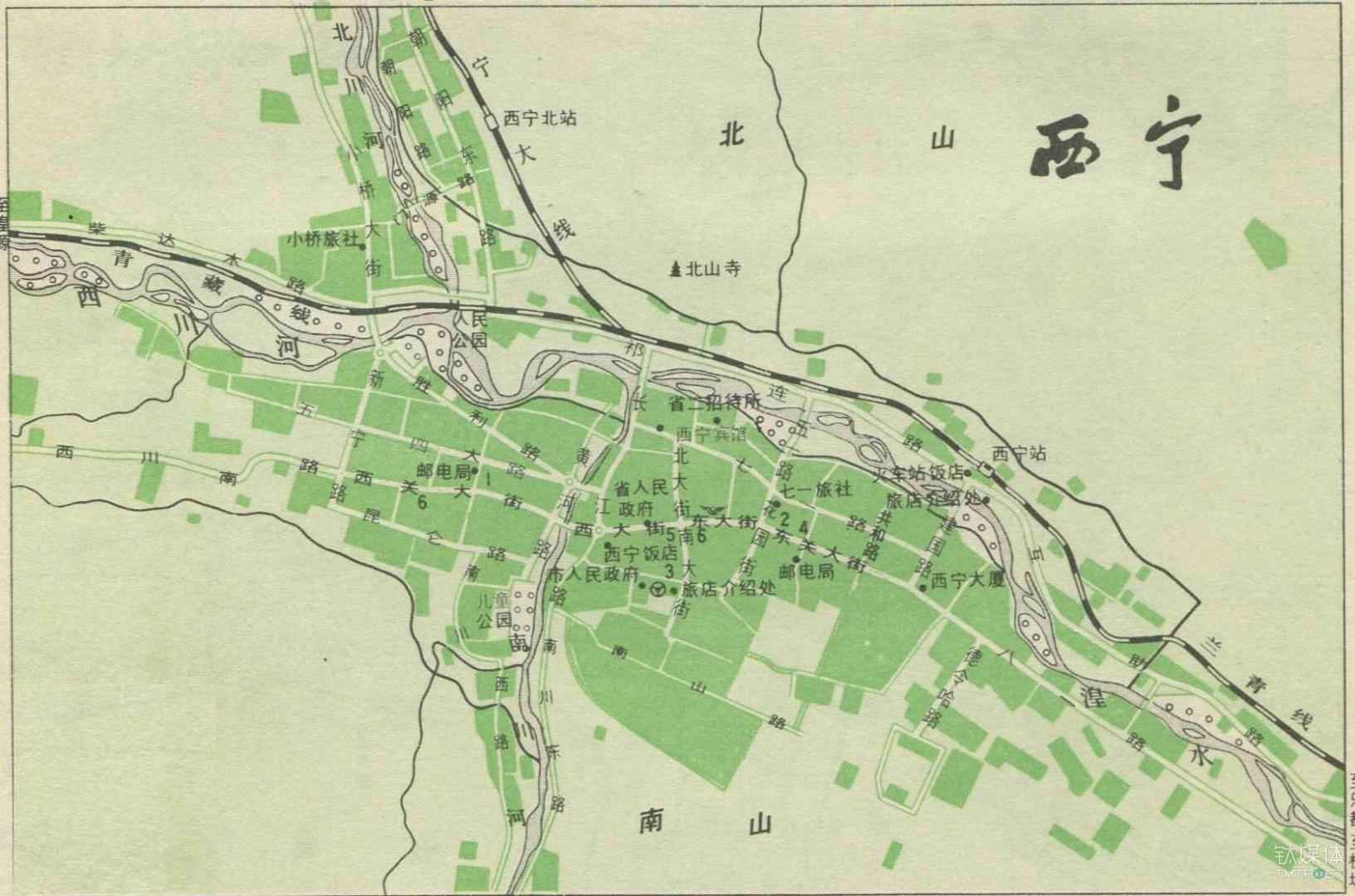 西宁的交通地图