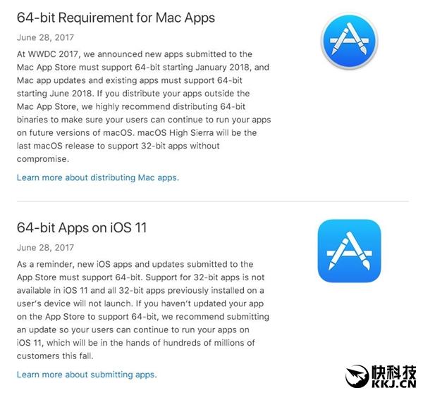 苹果最后通牒:32位应用 永别了!