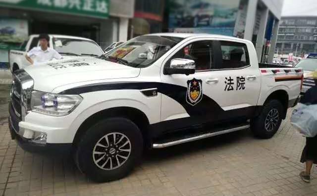 这辆国产大皮卡穿上制服,霸气完爆合资品牌,堪称最帅警车