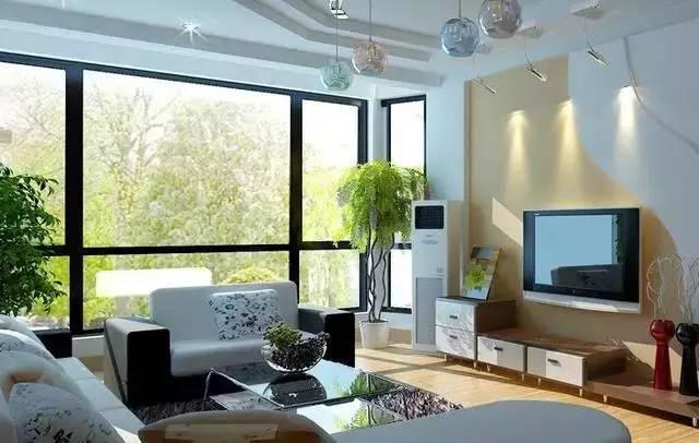 5,客廳平面方位詳細標示門和窗戶的位置,將客廳分成九等份,標示出人
