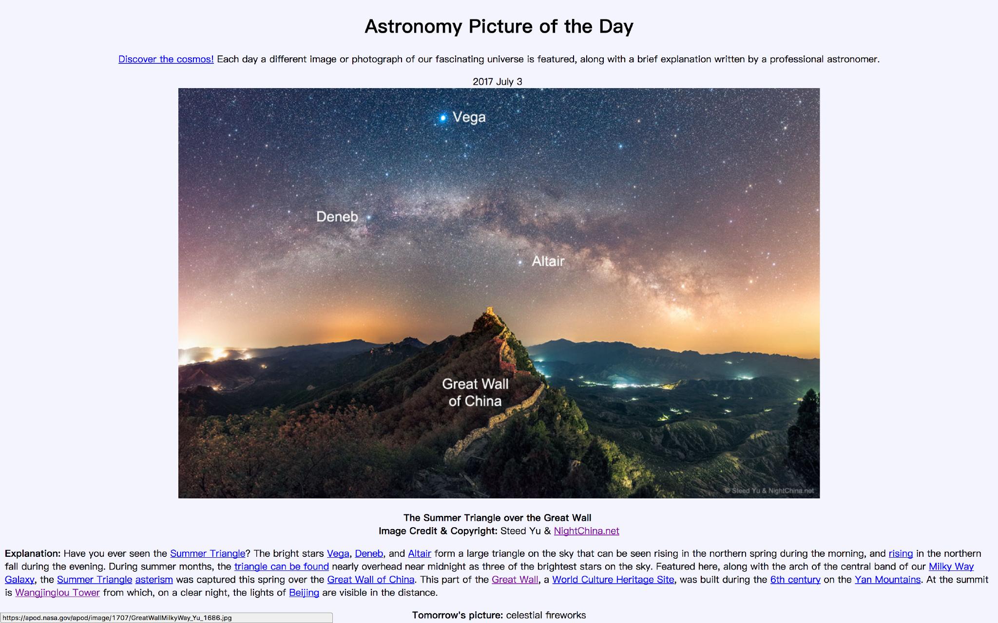 这张登上NASA官网的照片 中国摄影师是怎么拍出来