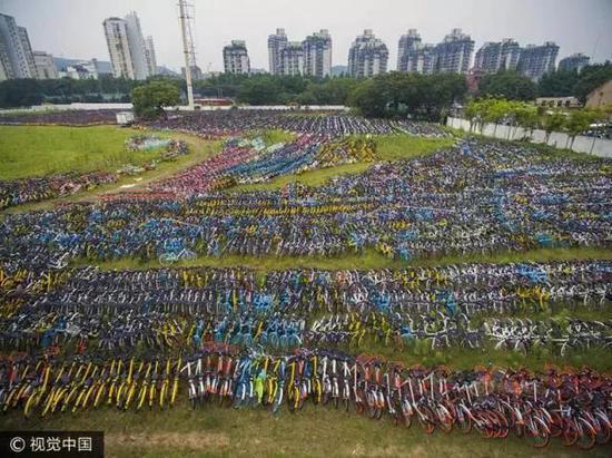 共享单车将制造30万吨废金属 相当于5艘航母(图)