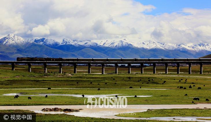 拉萨高铁沿途风景
