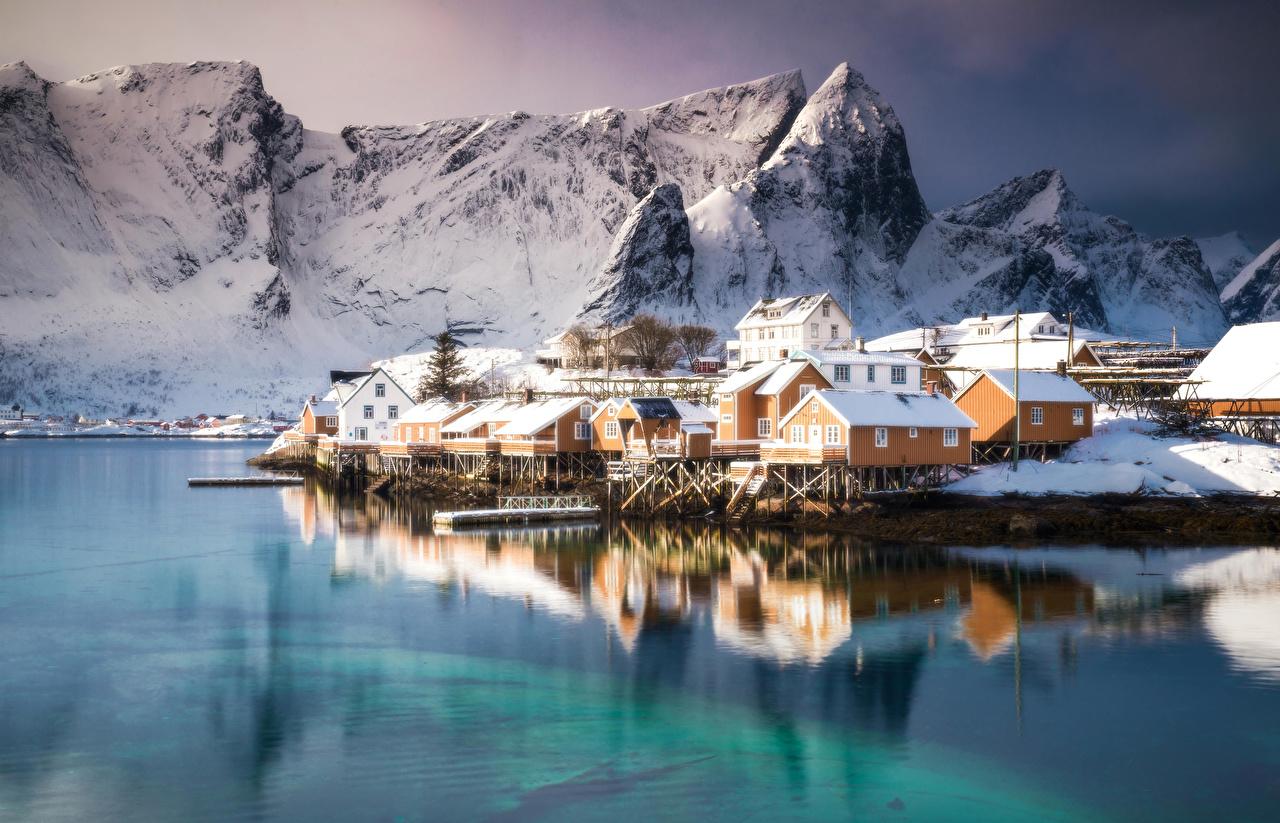 罗弗敦群岛位于北纬68到69度之间,在挪威以其自然风景而著名