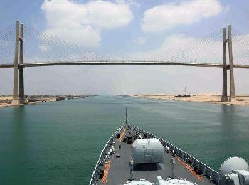 美媒:中国海军舰艇编队在地中海进行实弹演练