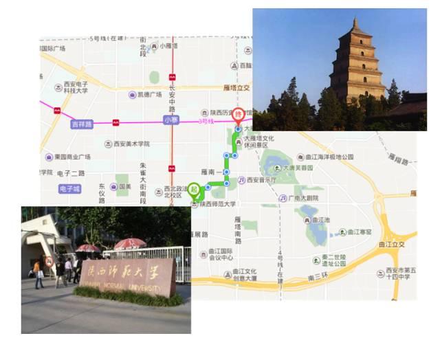 如今,大雁塔周围有亚洲最大的喷泉广场和最大的水景广场,西安美术馆和