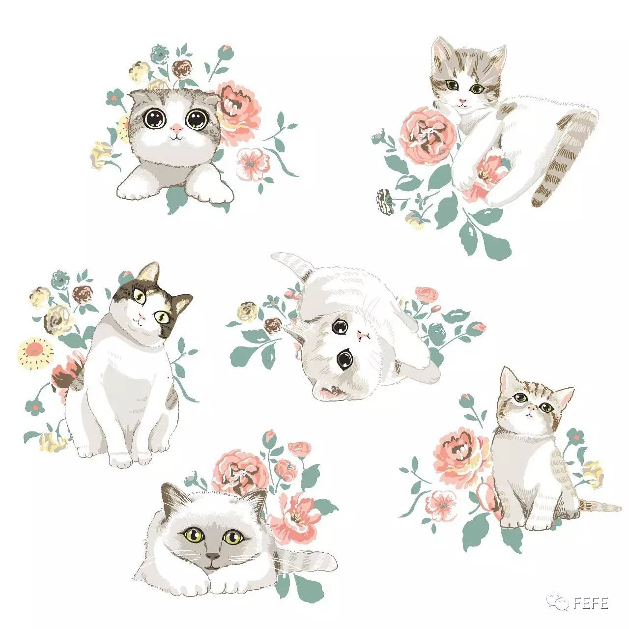 原创手绘萌萌的猫咪_凤凰动漫