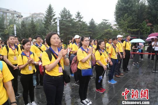 """8月7日,""""铭记历史 共创未来""""台湾青年学生沈阳夏令营在沈阳张氏帅府博物馆隆重开营。 钟欣 摄"""