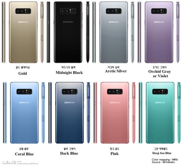 三星Note 8真机图走起:价格碾压iPhone8