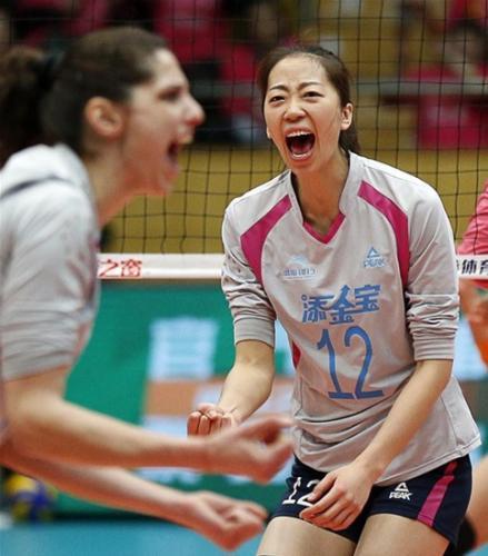 2015-16赛季匹克曾助力天津女排夺得联赛冠军。体育之窗供图
