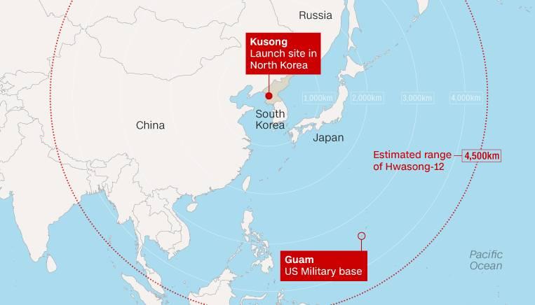 朝鲜4枚导弹就想打击关岛?我们分析了下可能性