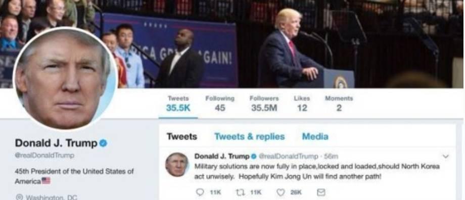 特朗普称准备向朝鲜开火  - 点击图片进入下一页