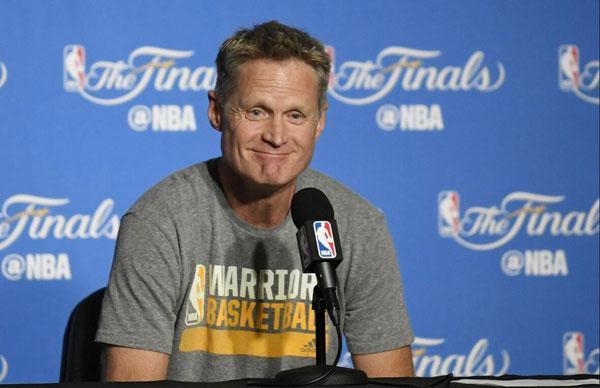 勇士主帅:NBA赛程合理化是我们建议的结果 满意新赛季赛程