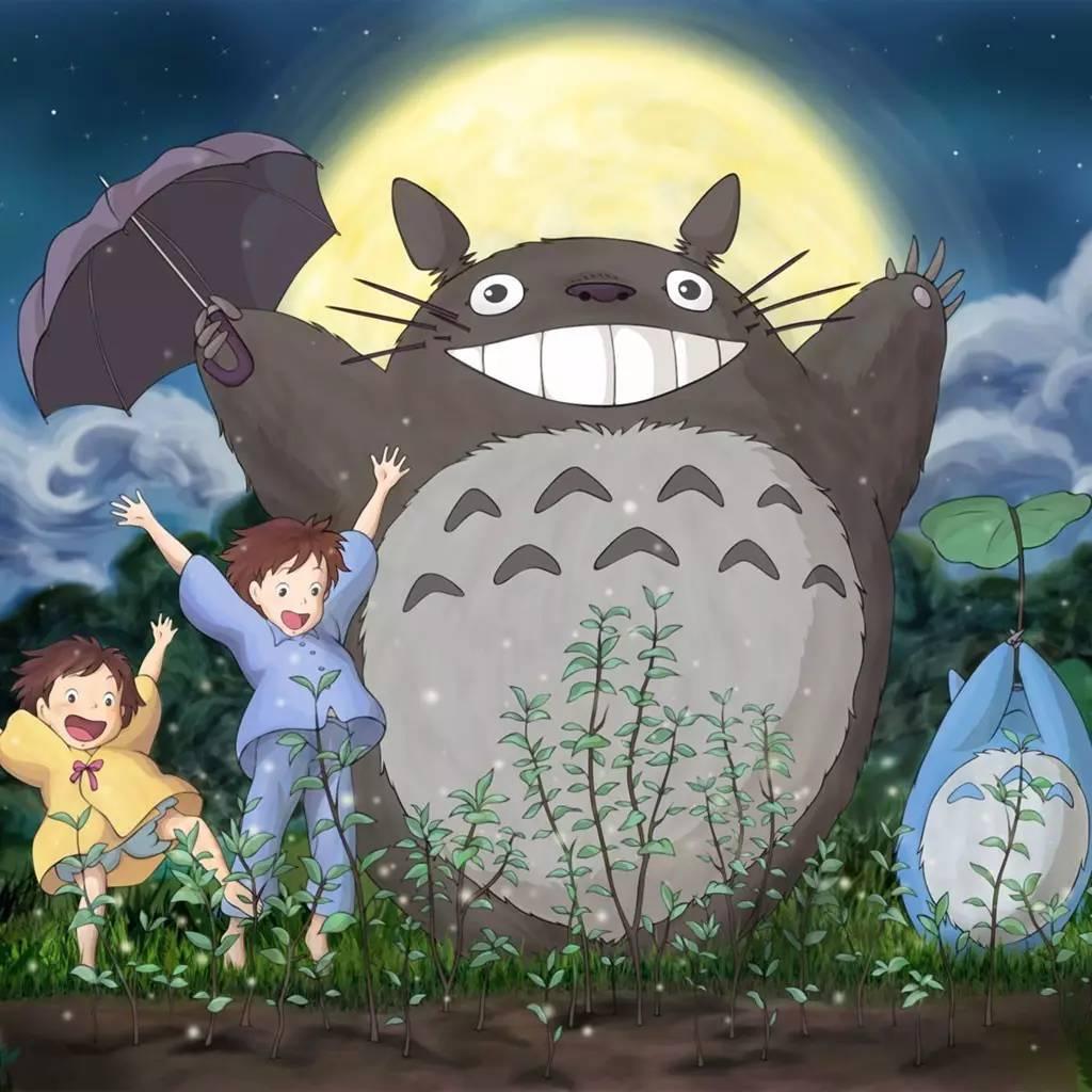 (宫崎骏,1997)《天空之城》中纯净空灵的希达,《龙猫》中童真质朴的