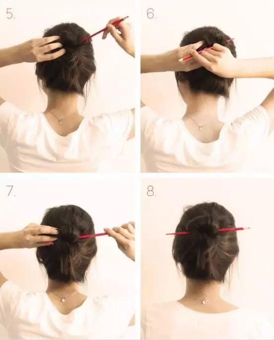 做簪子  筷子不仅能盘发,还能做簪子哦!图片