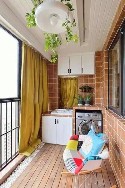 晾衣杆这样装,阳台搭配漂亮