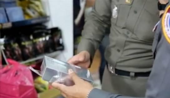 昨日,泰国华人商铺出现大批从中国进口的违法