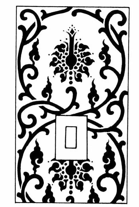 四角纹样剪纸图案