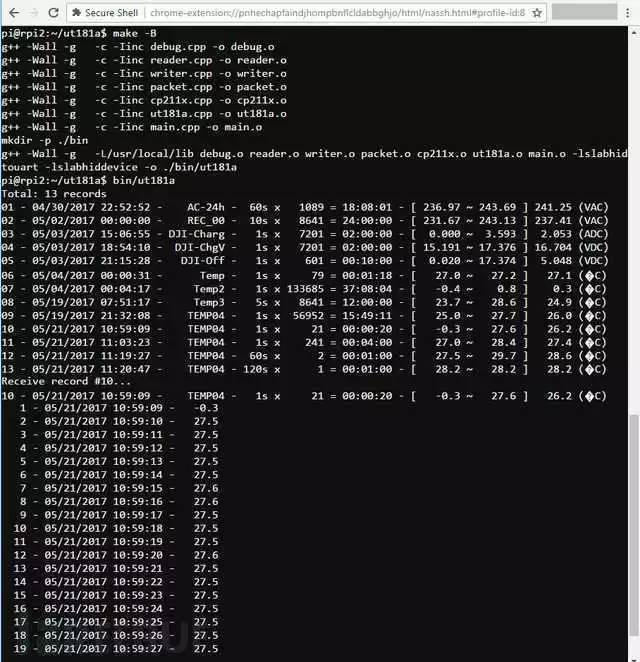 对收到的数据包与其实际意义进行初步的对应后,发现最后两字节是多余的。推测应该是校验字。在CRC在线计算网站上对包中的数据做CRC计算,发现与任何一种CRC编码都不能匹配。 其实,对收到的数据,可以忽略这个校验码,因为USB协议保证了数据不会出错,除非是软件层发生了错误。但后来发现,对发送的命令,也多了两个字节。如果万用表那端要对它收到的数据做校验,主机端则必须生成校验码了。 下图的命令中,带有参数。9字节长的包中有一个参数,13字节长的包有2个参数。根据参数的变化,可以观察出最后两字节的变化规律。观察9字