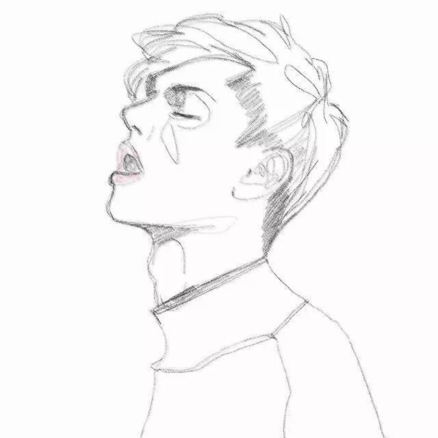 帅气动漫人物铅笔画