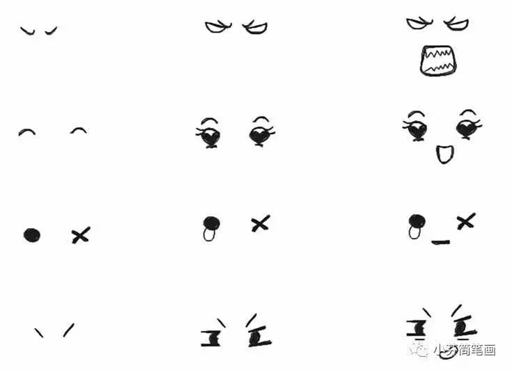 超简单的表情简笔画,萌萌哒(内附教程)