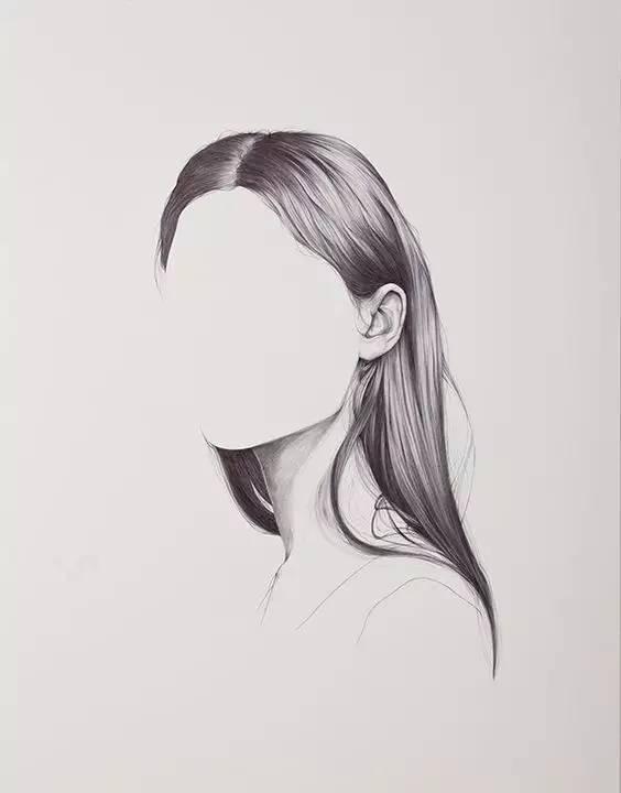 1,头发的结构与画法 2,线描的表现与技法 3,头发要区分出主次,疏密关
