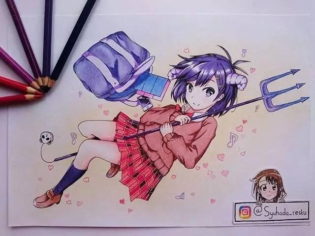 彩铅,动漫卡通这么美,是你喜欢的吗?_凤凰资讯
