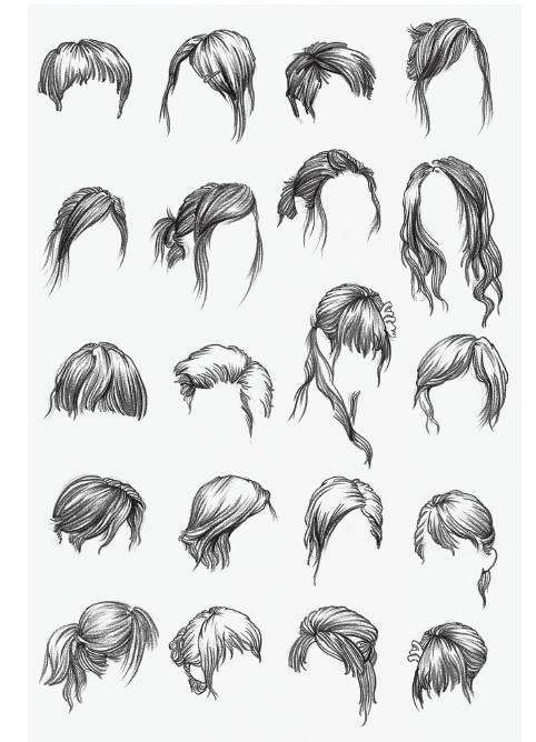 新闻客户端  1,头发的结构与画法 2,线描的表现与技法 3,头发要区分出