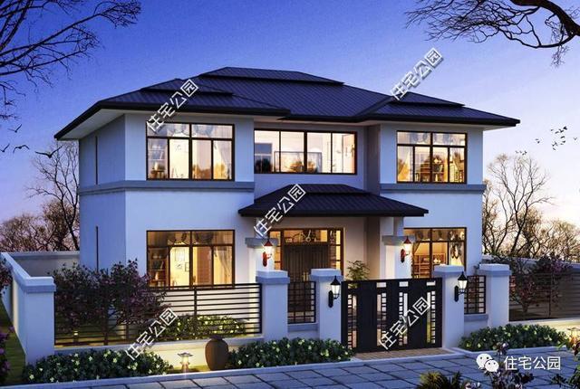 加大室内光照,门斗的设计提升造型质感,同时赋予了别墅讲究的工艺