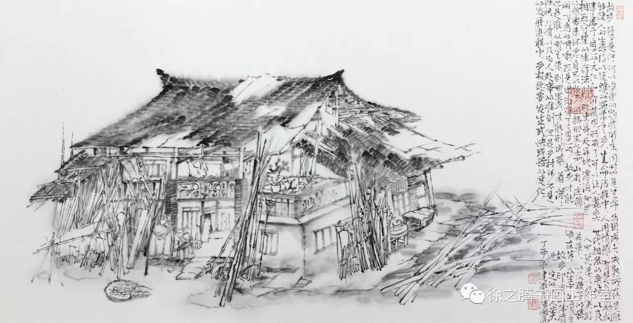 手绘简单水凤凰铅笔画