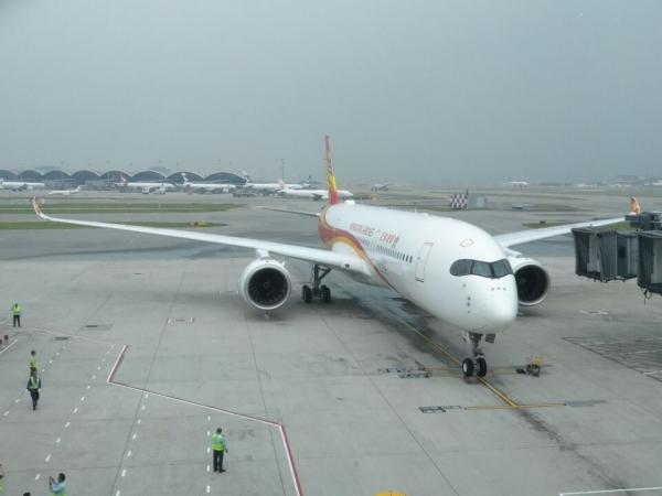 a350xwb宽体飞机和洛杉矶航线显示了香港航空的快速发展,以及向
