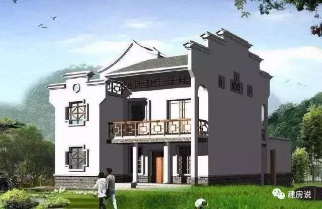 农村别墅,家家户户门口都是罗马柱,外墙都是文化石,屋顶都是老虎窗.