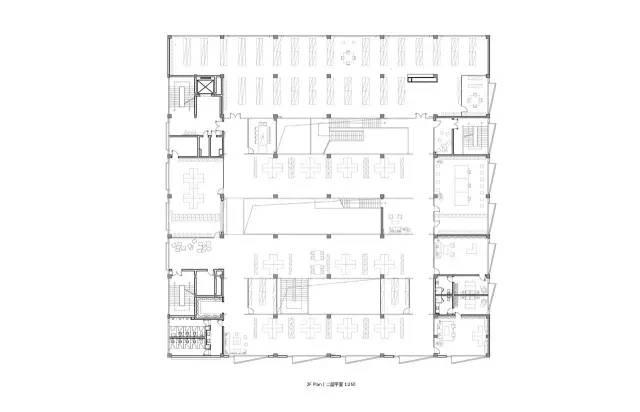 """一个典型案例,旧厂房改造设计成办公空间(""""层叠矩阵""""dave&bella办公"""