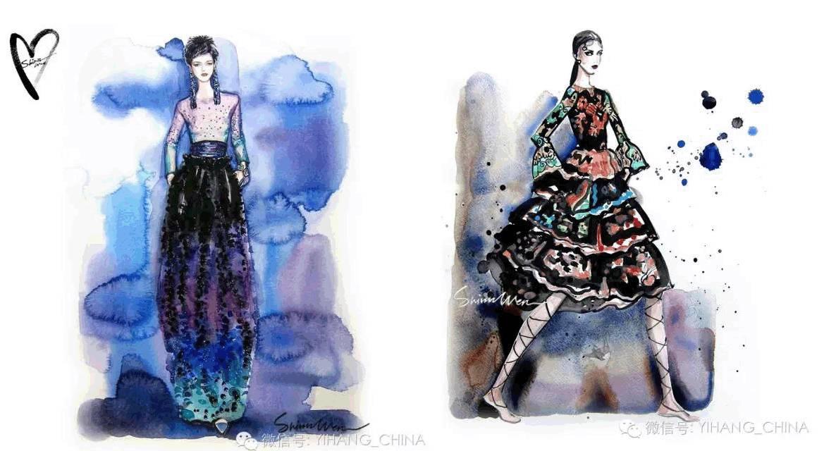 一行一线·国庆班 《服装手绘时装画大师对画课程》国际知名插画家让