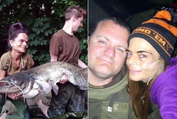 厌食症女子钓到62斤大鲶鱼比自己还重,_差点被其拽进水里