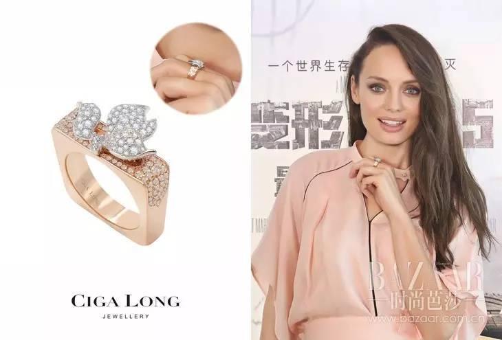 以及《变形金刚》女主角劳拉·哈德克,也有在出席电影发布会时,佩戴过Ciga Long珠宝