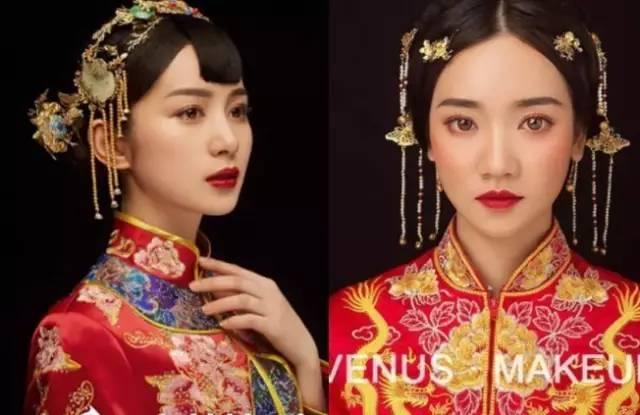 2017经典中式造型新娘造型(附教程),化妆造型师收藏好图片