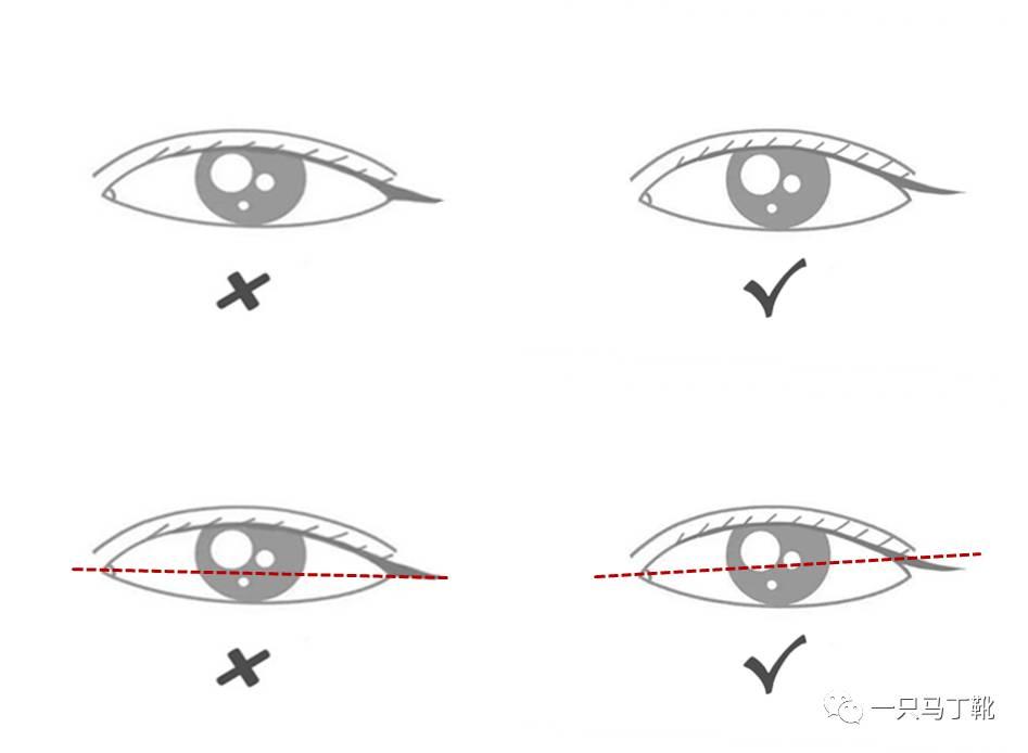 大小眼,下垂眼,斗鸡眼.有硬伤的眼睛怎么画眼线?图片