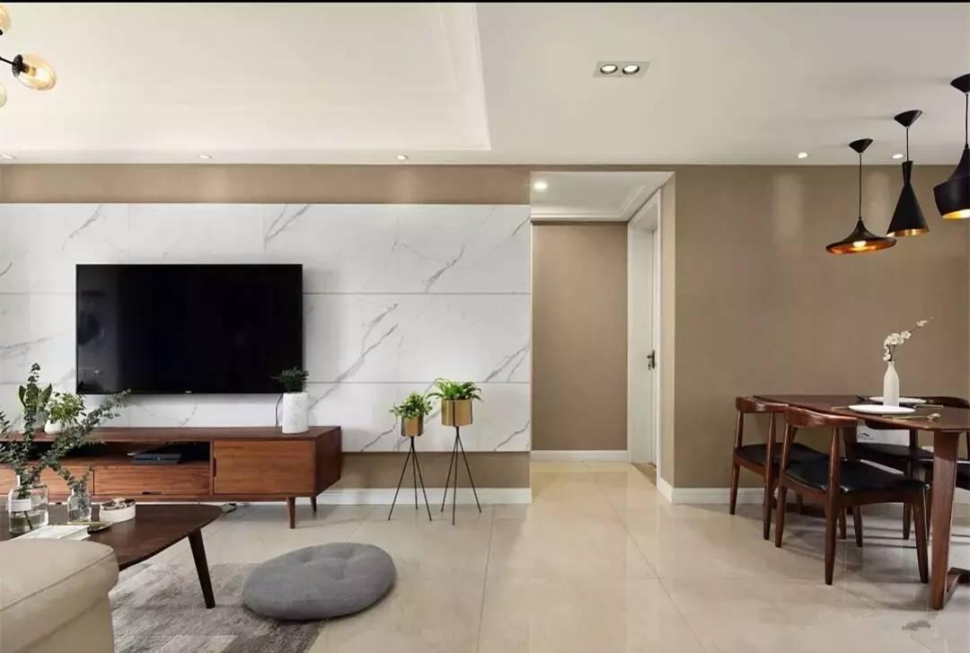 瓷砖电视墙,看着真高档!