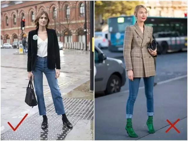 jeans,直筒牛仔裤,就是较宽松,高腰,裤腿短的款式,搭配一双短靴,效果图片
