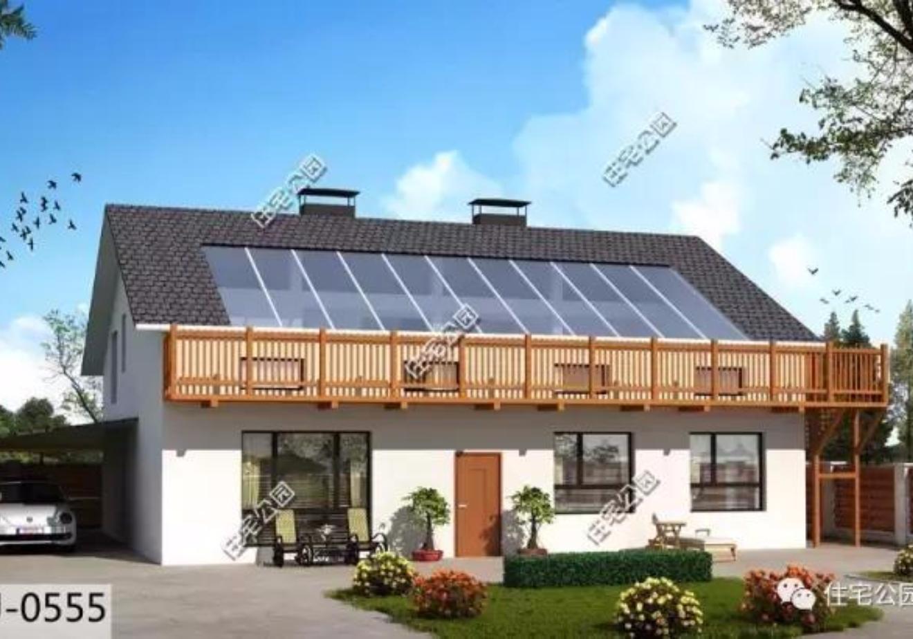 现在的农村别墅建的是一栋比一栋精美,好看的欧式法式,统统都有。不仅外观精美,也更注重室内布局,不再满足于传统的格局,更加注重功能性区域空间的布置。除了书房娱乐室,更有亲近自然的阳光房,大受欢迎。目前市面上有阳光房设计的户型很少见,但为了满足有建房需求的朋友,今天特别分享7套带阳光房的户型,中式、美式风格都能建。 户型一 带阳光房,10x13米超舒适东北二层别墅 传统的白墙黛瓦,质地顺滑的木材,完美打造了现代别墅,简约不失雅致。 房屋基本信息 占地尺寸:13.