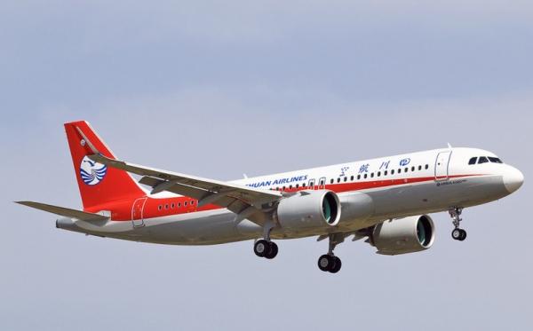 图:川航首架空客A320neo飞机交付。来源:@A320 Family Archive   民航资源网2017年9月5日消息:据 @A320 Family Archive在脸书上发布的最新消息,中国四川航空的首架空客A320neo飞机(F-WWBK,B-8949)已经交付。