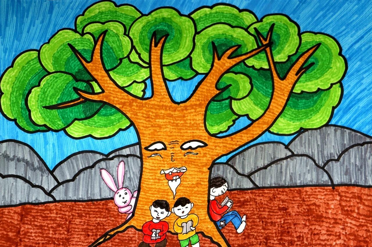 小学生获奖美术作品图片_六年级优秀一等奖绘画图片