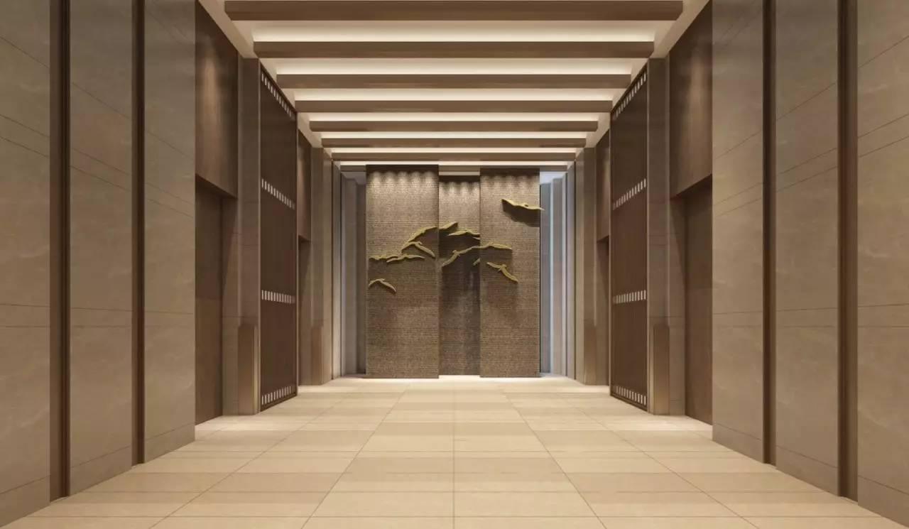 酒店大堂长廊 酒店总共设置了333间客房,其中155间为大床房,122间为