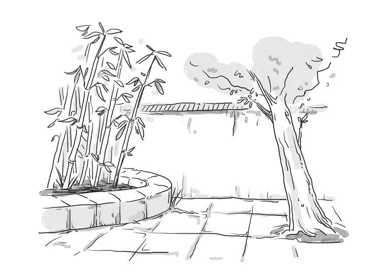 古代木头房子简笔画