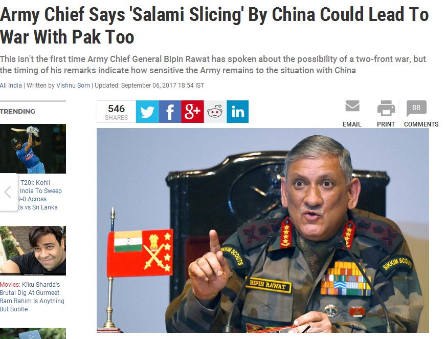核武器--印度军官称印方要做好战争准备 中国外交部回应