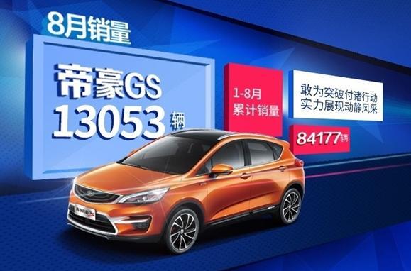 8月份吉利汽车销量数据新鲜出炉 同比增长80%