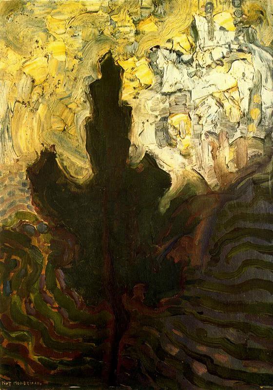 几何抽象画派的先驱,蒙德里安 作品的形式美