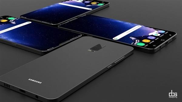 原标题:分分钟教育iPhone X!三星Galaxy S9概念设计:无敌 近日有爆料称,骁龙845有望在10月宣布,年底正式发布,明年Q1就有终端产品上市。 从目前的曝光来看,三星Galaxy S9和小米7首发的可能性最大。 今天,设计团队DBS DESIGNING分享了S9的概念设计图。 在工业设计师们的蓝图中,S9几乎完全摒弃了下巴,顶部也是窄如一条缝一般。虽然留给元件的布局空间如此苛刻,但配置的设计中,依然被塞入了两颗前置1300万摄像头、听筒、虹膜等诸多模块。后置是竖排的1800万双摄,整机看起来